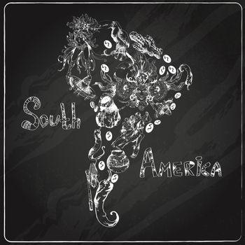 South america chalkboard