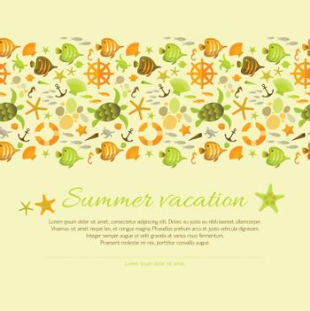 Summer Background Decorated Nautical Ornament