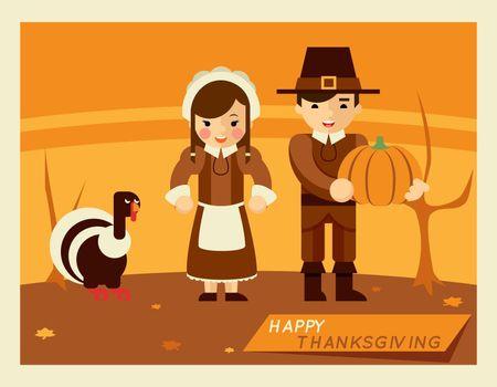 Thanksgiving retro poster