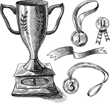 Trophy sketch set
