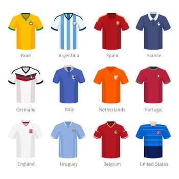 Soccer uniform or football of national teams