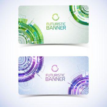 Futuristic Banners Cards Design