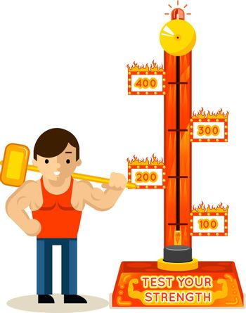 Strongman and test your strength game
