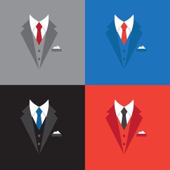 success leader concept, businessman suit illustration
