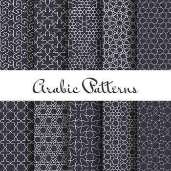 Ten arabic patterns set