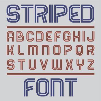 Striped Label Font Poster