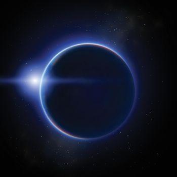 Moon Eclipse Illustration
