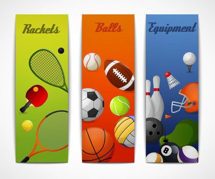 Sports vertical banners