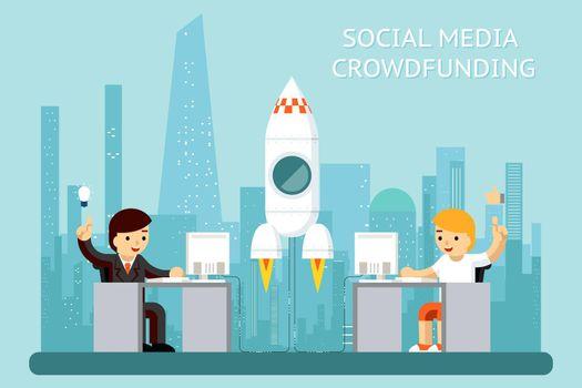 Social media cowdfunding