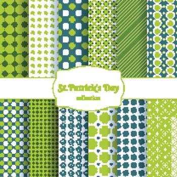 St Patricks day seamless patterns