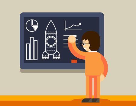 Start up plan on chalkboard