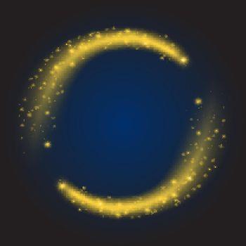 Star dust circle vector