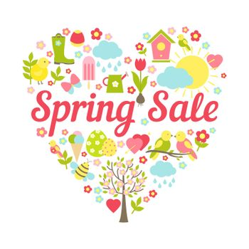 spring sale heart