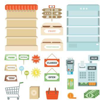 Supermarket Elements Set