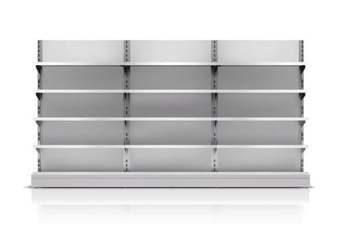 Supermarket Shelf Isolated