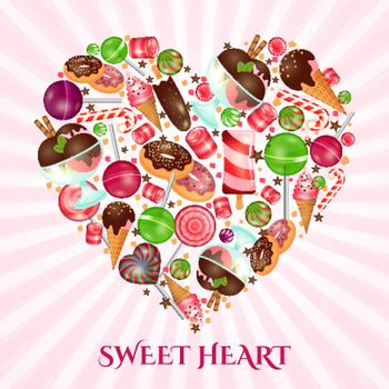 Sweet heart poster for sweet shop