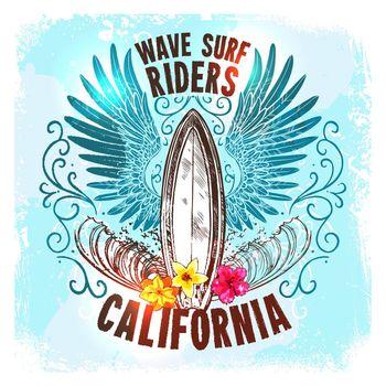 Surfing Board Label