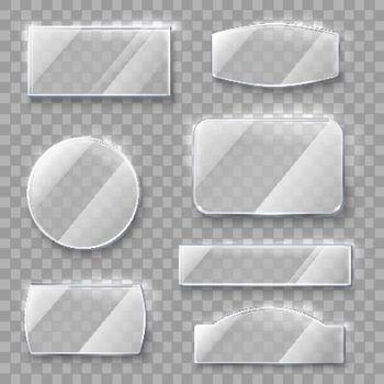 Transparent Glass Plates