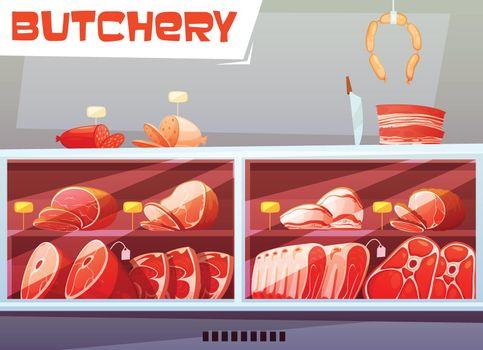 Storefront Of Butchery Shop