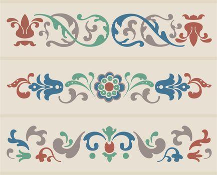 Vector Russian Floral Ornament