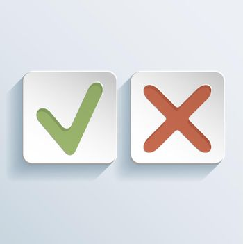 Tick And Cross Signs Icons