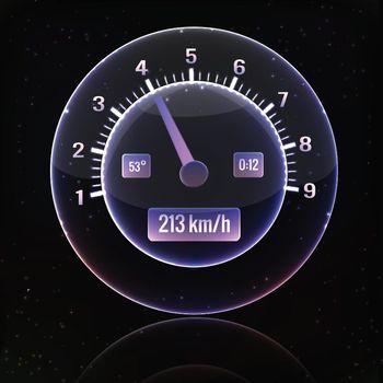 Speedometer interface background