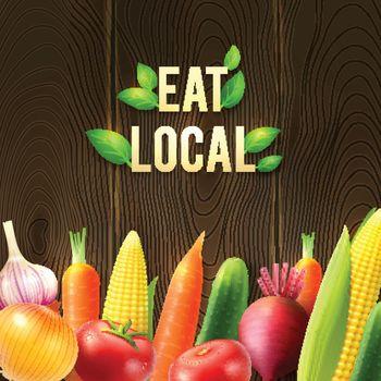 Eco Agricultural Vegetables Poster