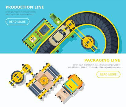 Production Line Horizontal Banners