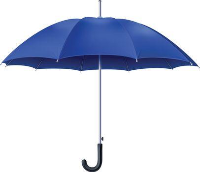 Realistic Blue Umbrella