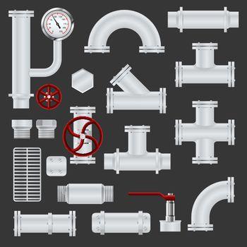 Realistic pipeline elements