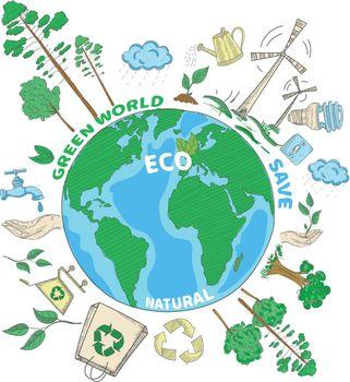 Doodle Ecology Concept