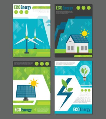 Eco energy icons poster