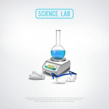 Minimalistic Lab Equipment Composition