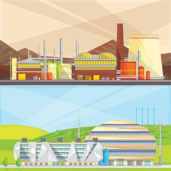 Eco Waste Industry 2 Flat Banners