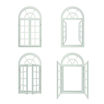 Arched Windows Realistic Set