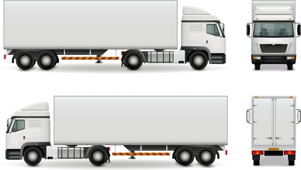 Realistic Heavy Truck Advertising Mockup