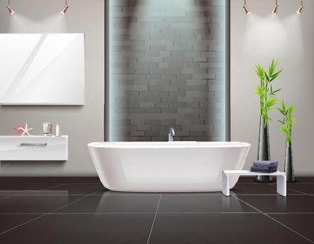Realistic Bathroom Interior