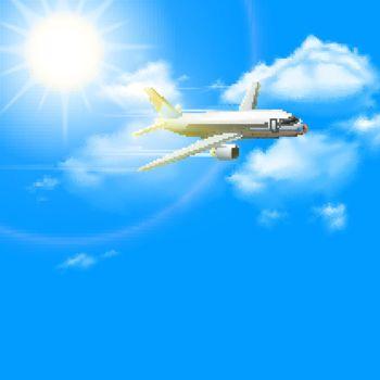 Realistic Plane Poster
