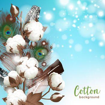 Realistic Cotton Background