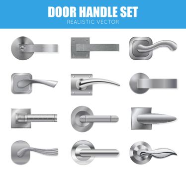 Silver Door Handle Collection