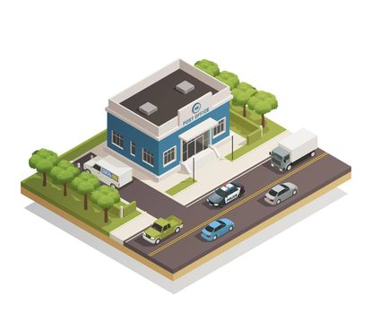 Post Office Building Outdoor Isometric