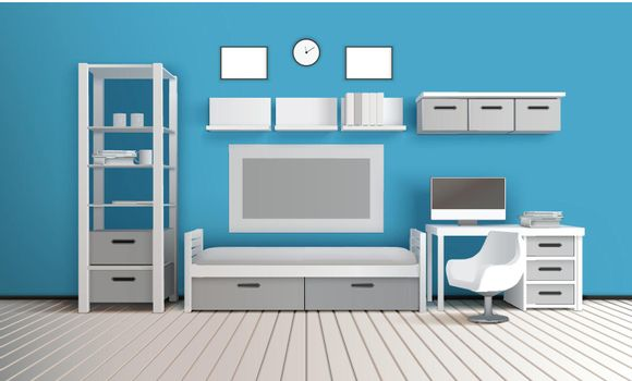 Sitting Room 3D Interior