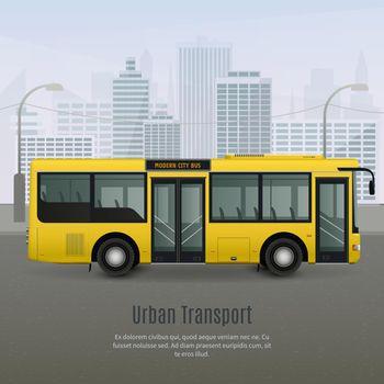 Realistic City Bus Illustration