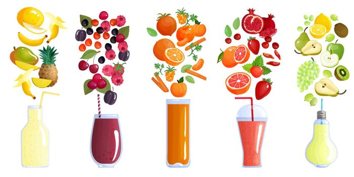 Smoothie Colored Composition