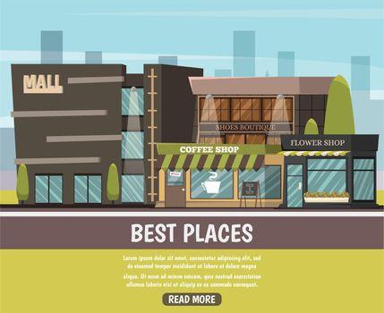Shop In City Illustration