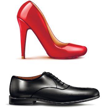 Shoes Realistic Set