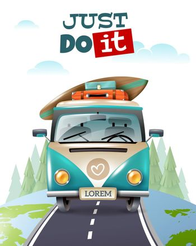 Minibus Journey Travel Background