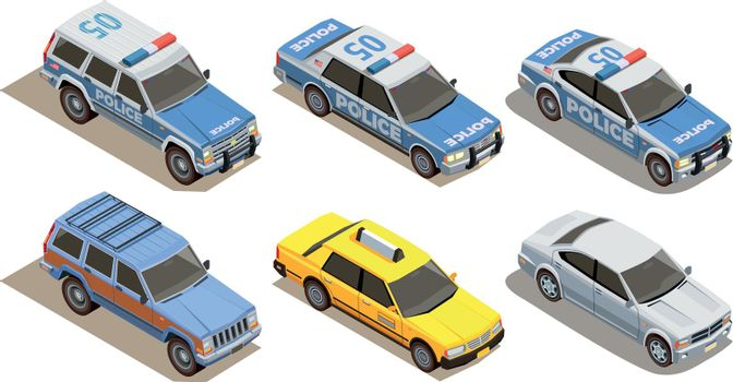 Passenger Cars Isometric Collection