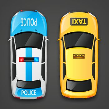 Police And Taxi Cars