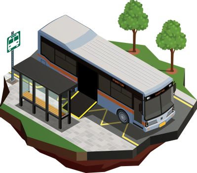 Accessible Bus Isometric Composition